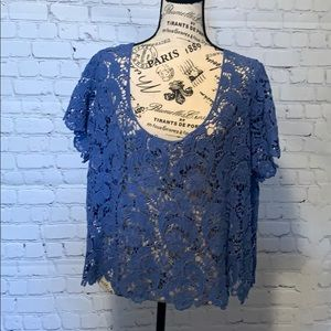 Torrid - blue lace cover up size 1
